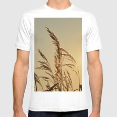 Tall Grasses Mens Fitted Tee White MEDIUM