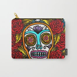 Sugar Skull and Roses - stars - painting Carry-All Pouch