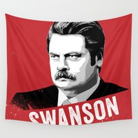 swanson Wall Tapestries featuring RON SWANSON Quote#4 by Michelle Eatough
