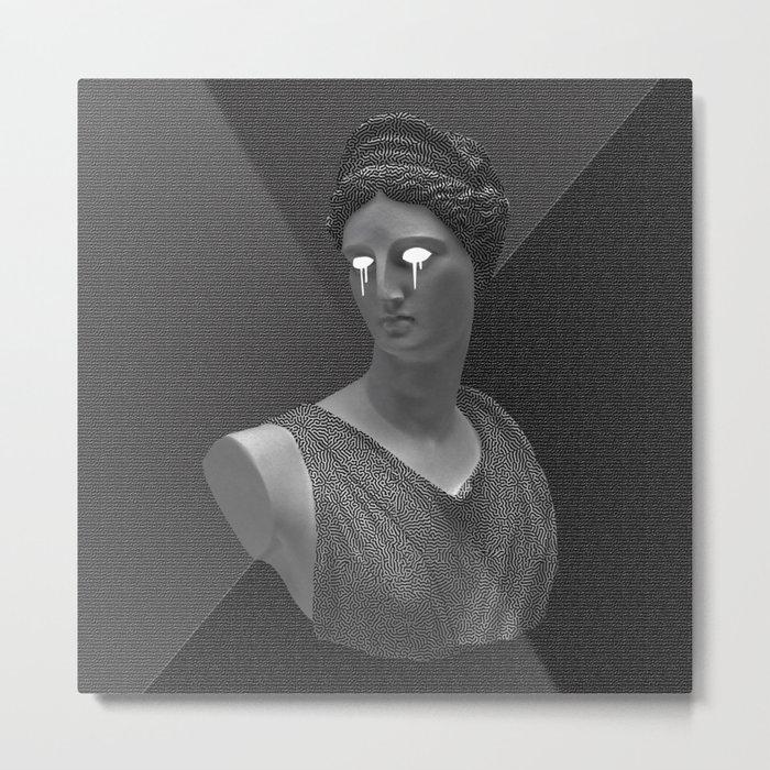 Glitch Statue Metal Print