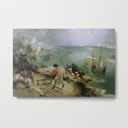Pieter Bruegel the Elder - Landscape with the Fall of Icarus Metal Print