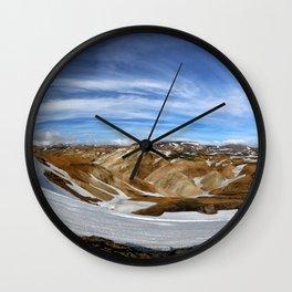 Landmannalaugar, Iceland Wall Clock