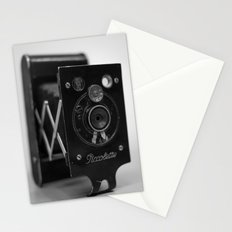 Black and white Vintage camera Stationery Cards