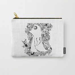 Negative Space Penguin Carry-All Pouch