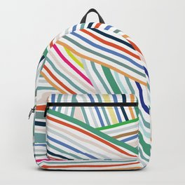Abstract Line Pattern One Backpack