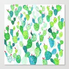 Watercolour Cacti Canvas Print
