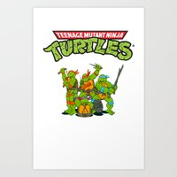 tmnt Art Prints featuring TMNT @ by Hisham Al Riyami