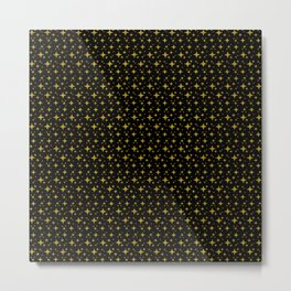 Black gold stars Metal Print