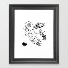 Cat Hand Framed Art Print