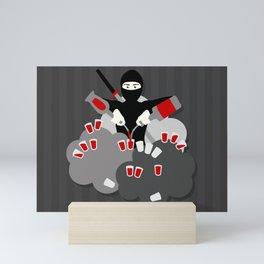 Super Ninja Bartender! Mini Art Print