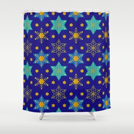Hanukkah Holidays Star of David Contemporary Pattern Shower Curtain