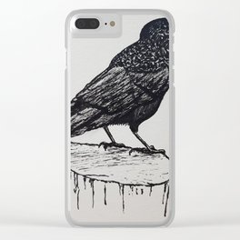 Observant Crow Clear iPhone Case