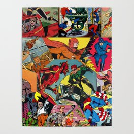 Comic Book Collage Poster
