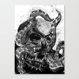Mictlantecuhtli Canvas Print
