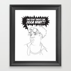 Black To The Future Framed Art Print