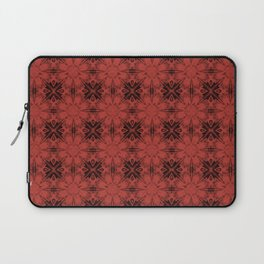 Aurora Red Floral Geometric Laptop Sleeve