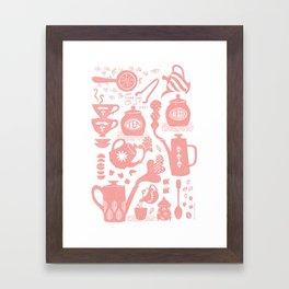 Morning ritual textured print pattern Framed Art Print