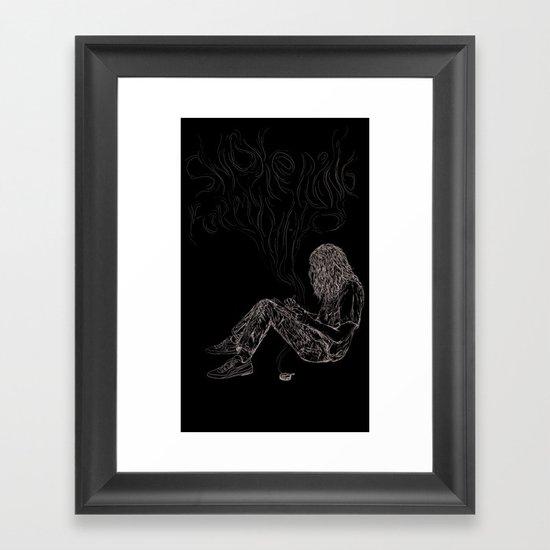 kurt vile t-shirt Framed Art Print