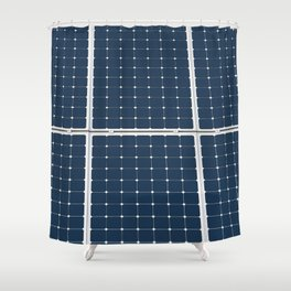 Solar Cell Panel Shower Curtain
