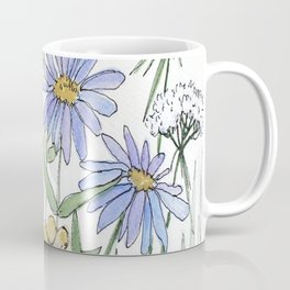 Asters and Wild Flowers Botanical Nature Floral Coffee Mug