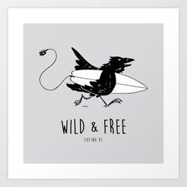 """ Surf Raven "" Art Print"