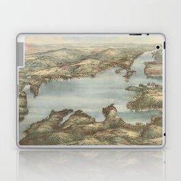 Vintage Pictorial Map of Lake Sunapee (1905) Laptop & iPad Skin