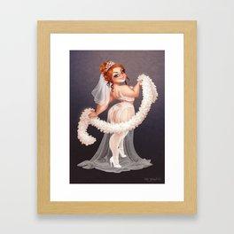 Helena Handbasket sexy bride Framed Art Print