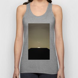 2001 Space Odyssey Minimal Dawn of Man Monolith Alignment Unisex Tank Top