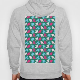 Abstract cut out bird leaf shapes. Hoody