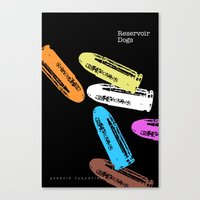 reservoir dogs Canvas Prints featuring Reservoir Dogs by Brian Walker