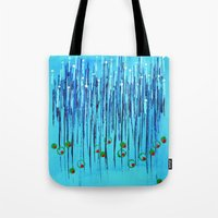 martini Tote Bags featuring :: Blue Martini :: by :: GaleStorm Artworks ::