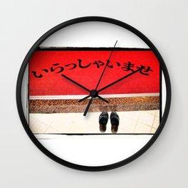 Irasshaimase (Welcome) Wall Clock