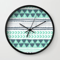 Winter Stripe Wall Clock