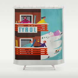 Vintage poster - Tyrol Shower Curtain