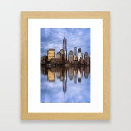 Cityscape of Financial District of New York Framed Art Print