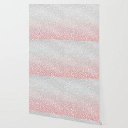 Blush Gray Princess Glitter #1 (Faux Glitter - Photography) #shiny #decor #art #society6 Wallpaper