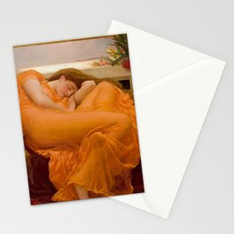 Flaming June Oil Painting by Frederic Lord Leighton Stationery Cards