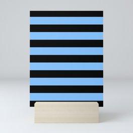 Mariniere marinière blue and black Mini Art Print