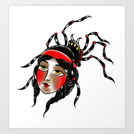 Black widow Art Print