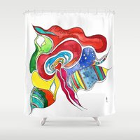 medusa Shower Curtains featuring Medusa by Gosia&Helena