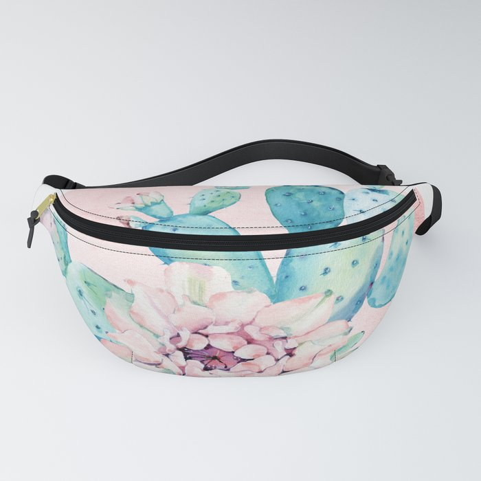 Desert Cactus Flower with Rose Gold Sun Fanny Pack