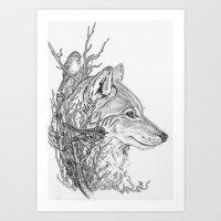 Forest Ecosystem-Wolf Art Print