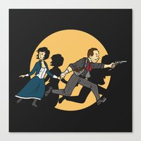 tintin Canvas Prints featuring TinTinfinite by Moysche Designs