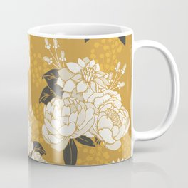 Glam Florals - Gold Coffee Mug