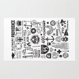 Providence Rhode Island Print Rug