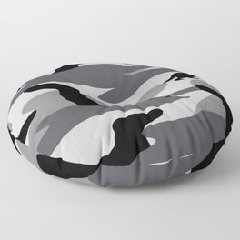 Grey Camo Weiner Dogg Floor Pillow