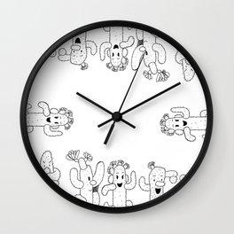 Cactus Family Wall Clock