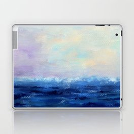 Indigo Seascape Oil painting Laptop & iPad Skin