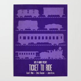 Ticket to Ride - Minimalist Board Games 07 Poster