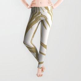 Gold Palm Leaves Dream #1 #tropical #decor #art #society6 Leggings